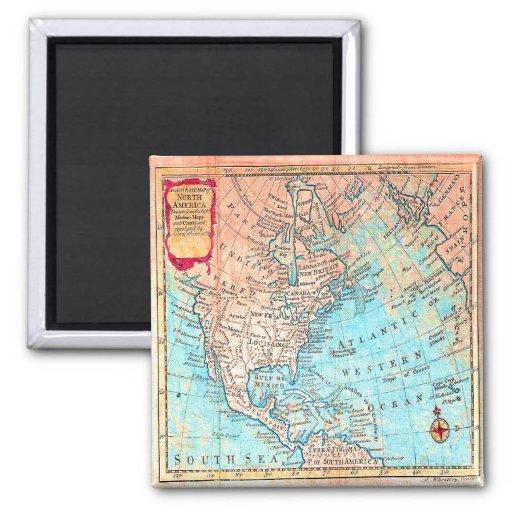Imán del mapa del vintage