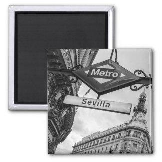 Imán del metro de Sevilla: Madrid