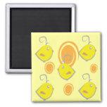 imán del modelo del amarillo del pájaro de bebé