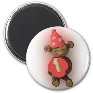 Imán del mono del cumpleaños