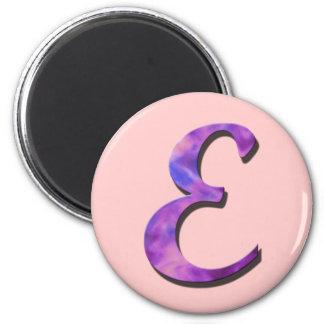 Imán del monograma E