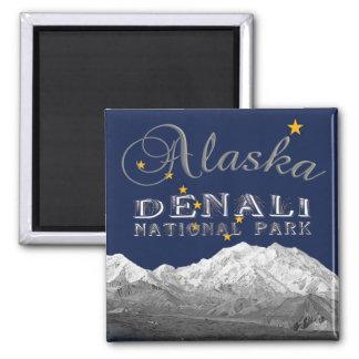 Imán del Mt McKinley de la bandera del estado de A