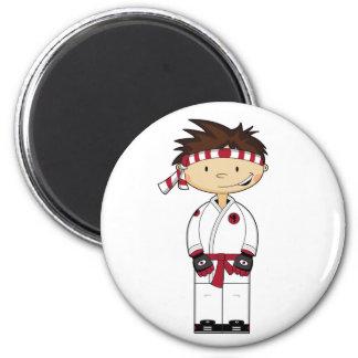 Imán del muchacho del karate