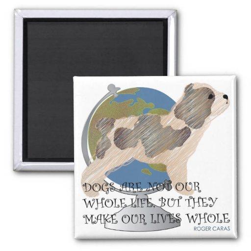 Imán del mundo del perro de los refranes