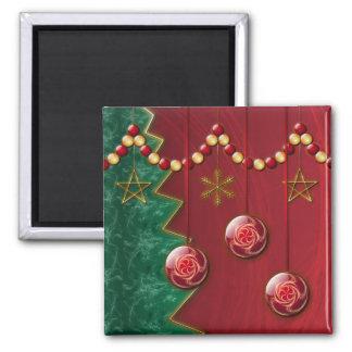Imán del navidad de la celebración del fractal