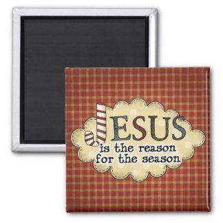 Imán del navidad de la estación de la razón de Jes
