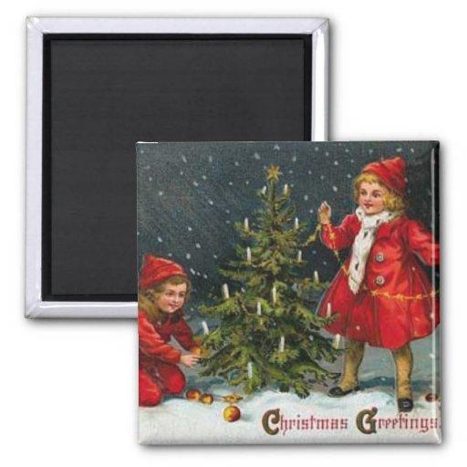 Imán del navidad de los niños del Victorian