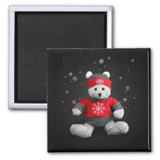 Imán del navidad del oso de peluche