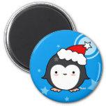 Imán del navidad del soplo del pingüino (más estil