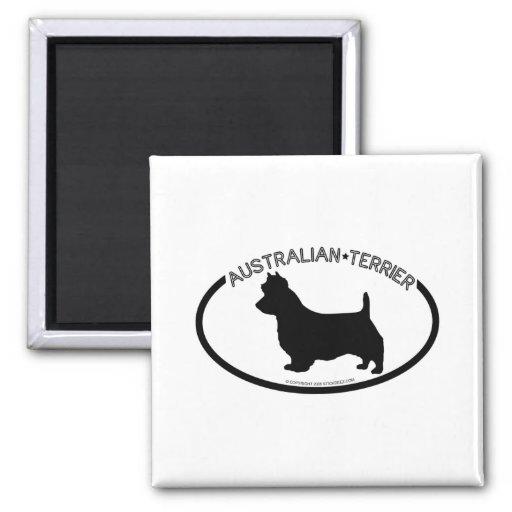 Imán del negro de la silueta de Terrier australian