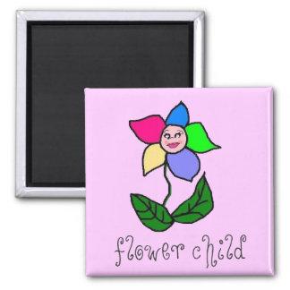 Imán del niño de flor