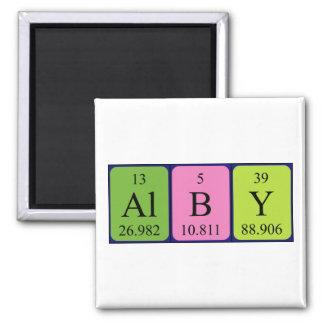 Imán del nombre de la tabla periódica de Alby