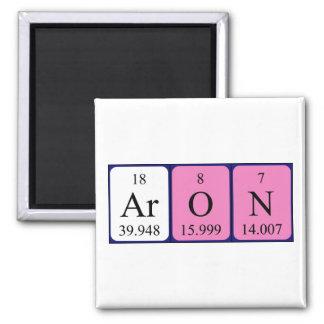 Imán del nombre de la tabla periódica de Aron