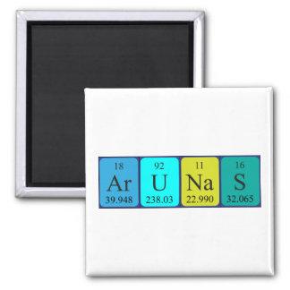 Imán del nombre de la tabla periódica de Arunas