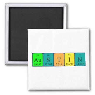 Imán del nombre de la tabla periódica de Austin