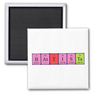 Imán del nombre de la tabla periódica de Battista