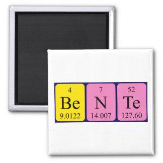 Imán del nombre de la tabla periódica de Bente
