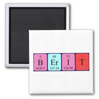 Imán del nombre de la tabla periódica de Berit