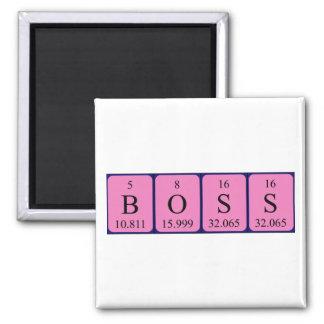 Imán del nombre de la tabla periódica de Boss