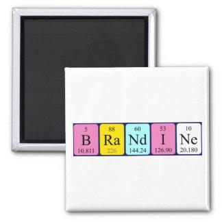Imán del nombre de la tabla periódica de Brandine