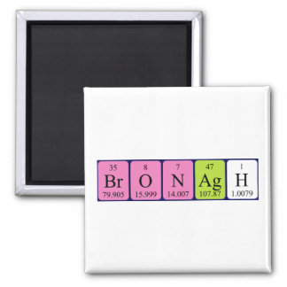 Imán del nombre de la tabla periódica de Bronagh