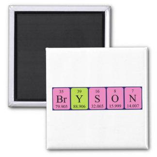 Imán del nombre de la tabla periódica de Bryson