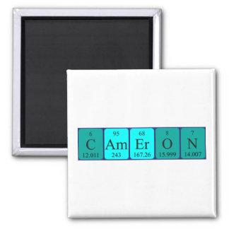 Imán del nombre de la tabla periódica de Cameron