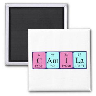 Imán del nombre de la tabla periódica de Camila