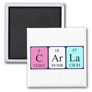 Imán del nombre de la tabla periódica de Carla