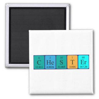 Imán del nombre de la tabla periódica de Chester