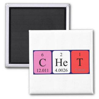 Imán del nombre de la tabla periódica de Chet