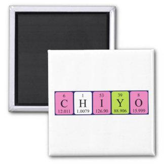 Imán del nombre de la tabla periódica de Chiyo