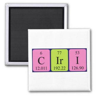 Imán del nombre de la tabla periódica de Ciri