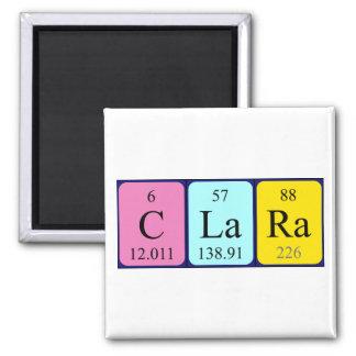 Imán del nombre de la tabla periódica de Clara