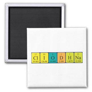 Imán del nombre de la tabla periódica de Cliodhna
