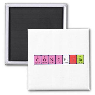 Imán del nombre de la tabla periódica de Conchetta