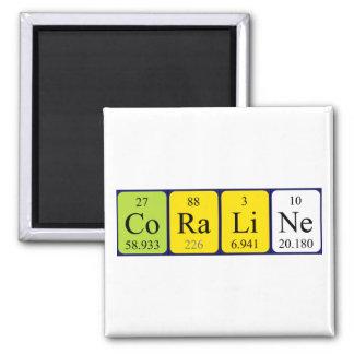 Imán del nombre de la tabla periódica de Coraline