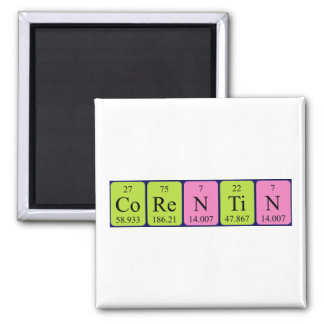 Imán del nombre de la tabla periódica de Corentin