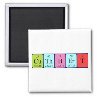 Imán del nombre de la tabla periódica de Cuthbert