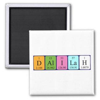 Imán del nombre de la tabla periódica de Dalilah
