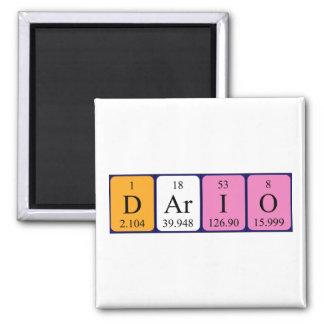 Imán del nombre de la tabla periódica de Darío