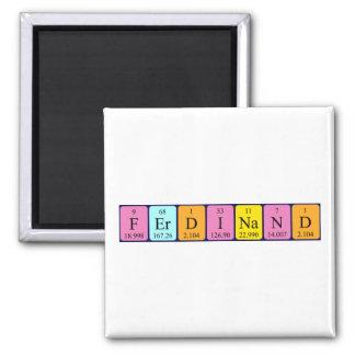 Imán del nombre de la tabla periódica de Fernando