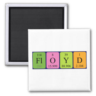 Imán del nombre de la tabla periódica de Floyd