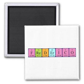 Imán del nombre de la tabla periódica de Frederico