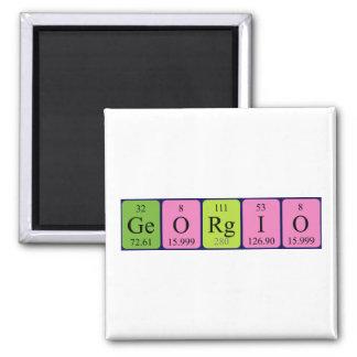 Imán del nombre de la tabla periódica de Georgio