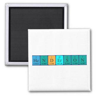 Imán del nombre de la tabla periódica de Henderson