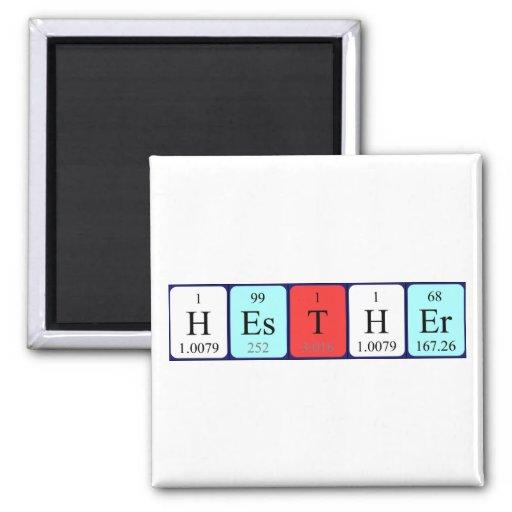 Imán del nombre de la tabla periódica de Hesther