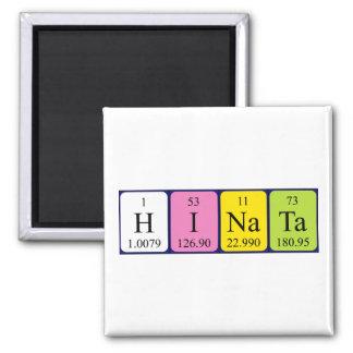 Imán del nombre de la tabla periódica de Hinata