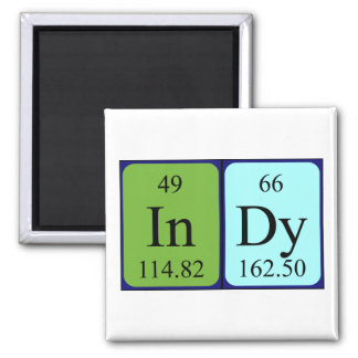 Imán del nombre de la tabla periódica de Indy