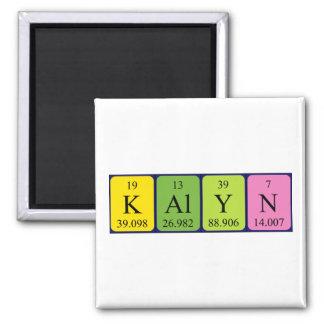Imán del nombre de la tabla periódica de Kalyn